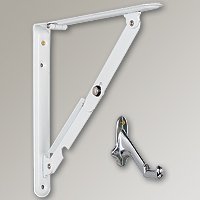 Folding Shelf Brackets / Ladder-Handle Brackets