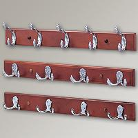 Coat & Hat Hooks with Pine Board